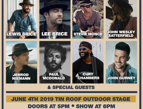 LEWIS BRICE AND TIN ROOF TEAM UP FOR LEWISPALOOZA 9 JUNE 4 AT 6PM