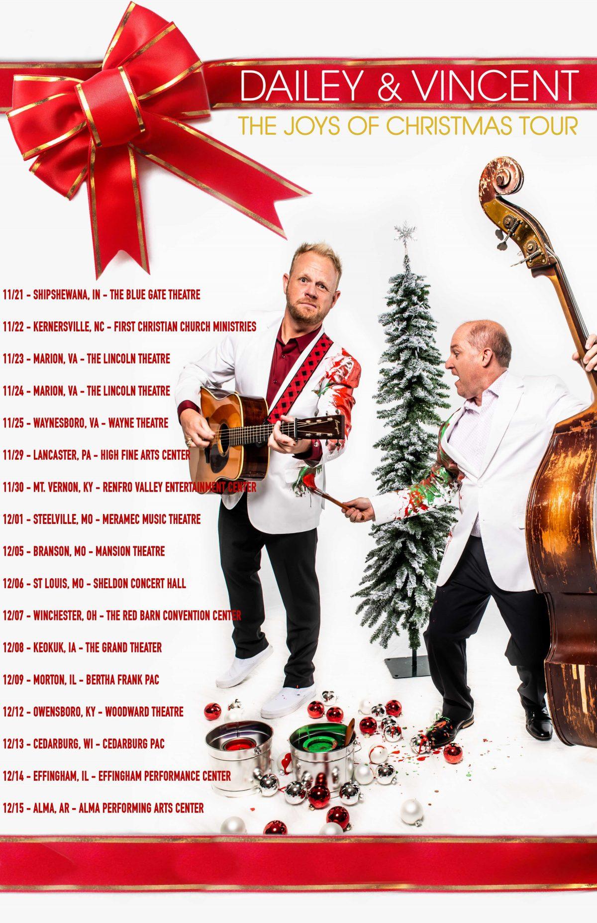 The Joys Of Christmas.Dailey Vincent Announce The Joys Of Christmas Tour