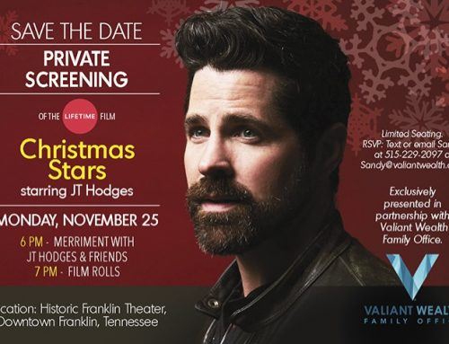 "JOIN J.T. HODGES FOR A  PRIVATE SCREENING OF THE LIFETIME FILM ""CHRISTMAS STARS""   MONDAY, NOVEMBER 25 6 PM"