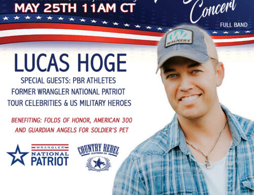 LUCAS HOGE TO HONOR MILITARY WITH SPECIAL MEMORIAL DAY LIVE STREAM ON COUNTRY REBEL'S FACEBOOK PAGE